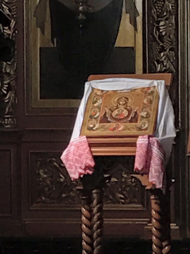 СПГ передал Новоспасскому монастырю освященный в Нью-Йорке список Курской Коренной иконы